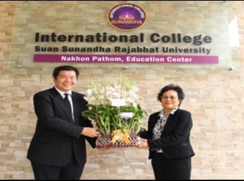 คณบดีวิทยาลัยนานาชาติ ร่วมแสดงความยินดีกับ อาจารย์สกุล จริยาแจ่มสิทธิ์ ในการรับเลือกเป็นกรรมการสภามหาวิทยาลัย
