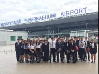 วิทยาลัยนานาชาติ ต้อนรับนักศึกษาจาก Hong Kong Institute of Vocational Education ทัศนศึกษาท่าอากาศยานสุวรรณภูมิและครัวการบินไทย