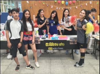 นักศึกษาสาขาธุรกิจการบิน SSRUIC ปี 3 จัดบูธ Food Fairs