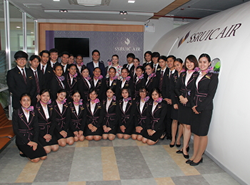 สาขาธุรกิจการบิน วิทยาลัยนานาชาติ มหาวิทยาลัยราชภัฏสวนสุนันทา ได้จัดงานสัมมนาในหัวข้อ Employee Expectation in the Real World และ A Career Path for Airline Staff