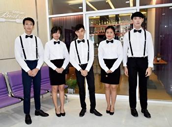 สาขาการโรงแรม วิทยาลัยนานาชาติ มหาวิทยาลัยราชภัฏสวนสุนันทา ได้จัดการสอบปฏิบัติการในรายวิชา Food and Beverage Management