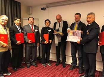 วิทยาลัยนานาชาติ ขอแสดงความยินดีกับ ผศ.ดร. กวิน วงศ์ลีดี ทีได้รับรางวัล Chairman ดีเด่น ณ Icisspaha Paris, France