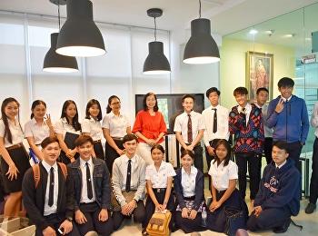 นักศึกษาวิทยาลัยนานาชาติ มหาวิทยาลัยราชภัฏสวนสุนันทา จัดการสนทนาพูดคุยเกี่ยวกับรายละเอียดโครงการเรือเยาวชนเอเชียอาคเนย์  The Ship for Southeast Asian and Japanese Youth Programme (SSEAYP)