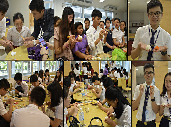 Carving Event To exchange students from Guilin University of Aerospace Technology To learn Thai culture