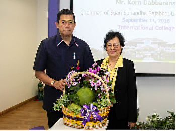 Administrators, faculty, staff and international students Welcomed Tadpraya Rajabhat University Council Suan Sunandha Rajabhat University On the occasion of visit to the International College at Nakhon Pathom Education Center