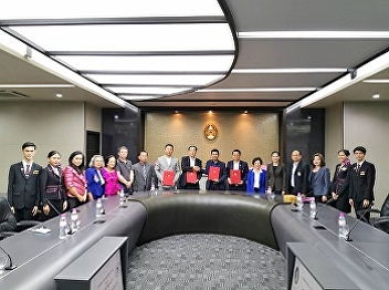 The signing ceremony of the memorandum of cooperation between Suan Sunandha Rajabhat University and the World of Aviation Management (Thailand) Company Limited