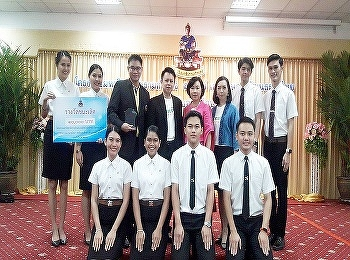 The International college Suan Sunandha Rajabhat University won the 1st prize from the 7th Annual Ramkhamhaeng University