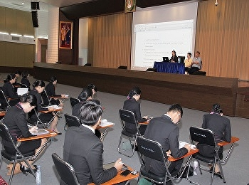 International college Suan Sunandha Rajabhat University organized an orientation before the internship year 2019 for students in the airline business code 60.
