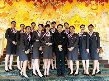 International college Suan Sunandha Rajabhat University Hotel Management major learning outside A place related to the arrangement of an international table, and observing international etiquette At Anantara Siam Bangkok Hotel