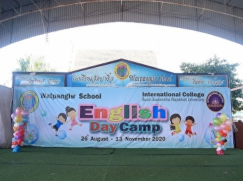 International College Suan Sunandha Rajabhat University Organized academic service activities English Day Camp 2020 at Wat Pa Ngio School